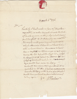 6 March 1796. ALS to Joshua Wentworth