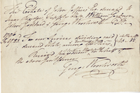 Isc. Rindge Esqr and others Commissrs. in dividing the Estate of the heirs to David and Sarah Jeffries decd -- bill of charges for their services... (docket title)