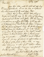 Boston, 2 July 1796. ALS to Joshua Wentworth