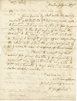 "Eckley, Joseph, fl. 1792-1797. ""Dear Sir, Your last letter with the 466..."