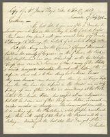Copy of Mr. James Hay's Letter to Tod and Co. dated Grenada 17th July 1796-- (docket title)