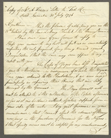 Fraser, A., fl. 1796. Copy of Mr. A. Frasers Letter to Tod and Co. dated Grenada 30th July 1796-- (docket title)