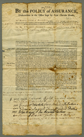 Policy on Schooner Ioanna and Cargo. (docket title) Boston, 1 Sept...