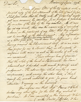 "Boston, 17 Sept. 1796, ""Dear Sir, I received your..."