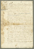 20 7bre 1796. Emargement par Mr. Soudon, Envers Les heritiers de Made. L'epine. ... (docket title)