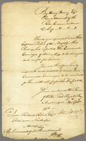 Rear Adml. Harvey's Order for constructing 4 Carronade Carriages 24th Septr. 1796 (docket title)
