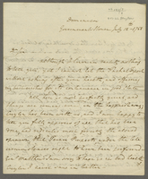 "Dominica, 12 July 1788. ALS to Evan Nepeat, ""Dr Sir..."