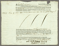 Point a Pitre, 22 July 1788. Printed bill of lading, blanks filled in ms...