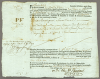 Point a Pitre, 28 July 1788. Printed bill of lading, blanks filled in ms...