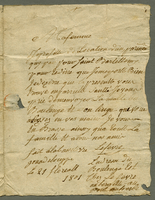Basseterre, Guadeloupe, 12 May 1801. ALS to Mme. Lefevre...