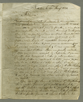 Basseterre, 13 May 1801. ALS to Mme. Boyer