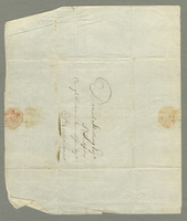 "Ms. Envelope sheet addressed to ""Daniel Skilling..., ca. 1800-1801?"