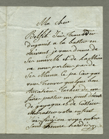 ALS to Mlle. , Guadeloupe, May 1801