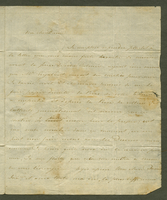 St. Martin, 13 April 1801. ALS to Mme. Noux