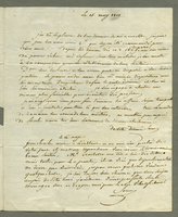 15 May 1801. ALS to J. H. Garrou