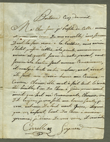 Basseterre, 17 [April] 1801. ALS to Adelaide Serpein