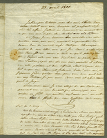 23 April 1801. ALS to R. Bellevue