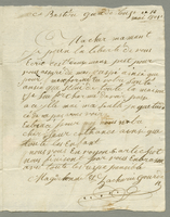 Basseterre, Guadeloupe, 16 May 1801. ALS to Mme. Agathe...
