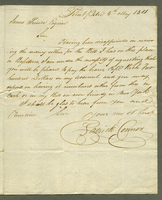Point Pitre, 4 May 1801. ALS to James Prince