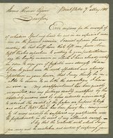 Point Pitre, 7 May 1801. ALS to James Prince Esquir