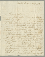 Basseterre, 15 May 1801. ALS to Mme. Balestier