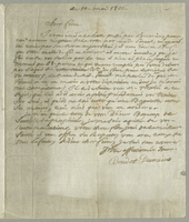 10 May 1801. Ms. Letter to Vincent Boudet, signed