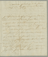 Basseterre, Guadeloupe, 11 May 1801. ALS to Jeanne Louise Bigard...