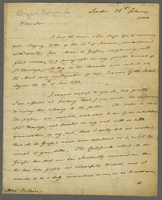 "London, 26 Feb. 1800. ALS to Delair ""Negt. A Charleston, Caroline..."