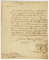 Mr. Bigard's letter to Capn. Truxtun. (docket title)