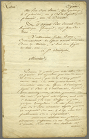 Guadeloupe, 25 Jan. 1801. Ms letter on printed form, signed