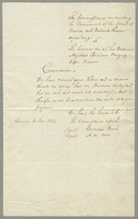 Answer of the Government of Curacoa to the Summons of Capt Bligh. (docket title)