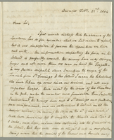 Captain Bligh's Private Letter respecting Curacoa (docket title)