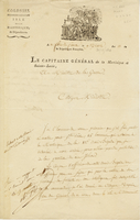 Fort de France, 30 Dec. 1802. Printed form