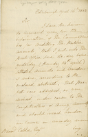"Edinburgh, 16 April 1803. ALS to ""Bernd Cobbe Esqr.,""..."