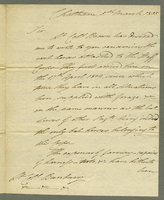 Chatham, 5 March 1805. ALS to Lt. Col. Bunbury