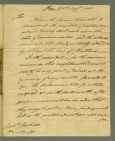 Bry[?], 28 Aug. 1805. ALS to Captain Jackson