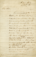 28th. Novr. 1805. Lie from the Chairs to Lord Castlereagh, on the subject of Indian and Chinese Goods imported to Barbadoes etca. by American Ships (docket title)