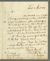 Saints, 20 April 1809. ALS to Ernouf, 1 p....