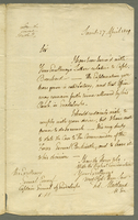 Saints, 27 April 1809. ALS to Ernouf, 1 p....
