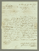 3 Islets, 17 May 1809. ALS to Henry Besson, 2 p...