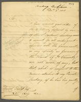 Sir C Brisbane to Mr Crokatt 2 Dec 1810 (docket title)