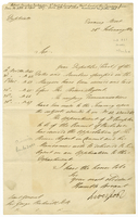 Downing Street, 26 Feb. 1812. Ms. letter to Beckwith, signed