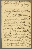 "4 Mar. [1812?] ALS, 2p. To ""Revd Dr. Burney,"" ""Many thanks..."