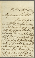 "Wells, 18 Sept. 1819. Al. . ., ""My Dear S. . ."