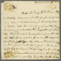 "ALS, Mon. 9 Jan. 1822, ""To the overseers and Church wardens etc..."
