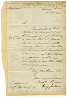 Downing Street, 12 Feb. 1813. Ms. letter to Beckwith, signed
