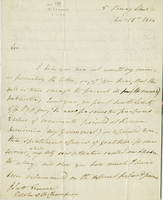 "5 Bury Street, 16 Dec. 1815. ALS to ""J. Scott Esquire Editor of the..."