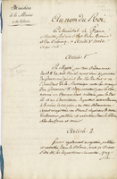 France. Ministere de la Marine and des Colonies. Paris, 10 Sept. 1817...