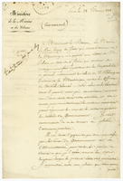 Paris, 28 March 1818. Ms. letter [to Portalis] on printed letterhead...