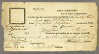 [two certificates for importation of rum] 23 June 1806. Printed forms...